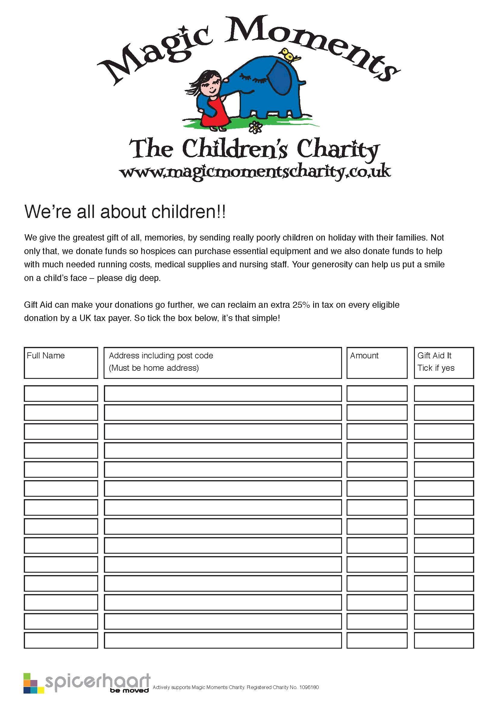 Download Sponsor Form  Charity Sponsor Form